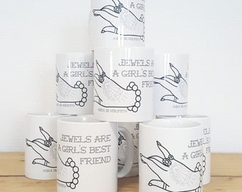Mug ' jewels are a girls best friend '