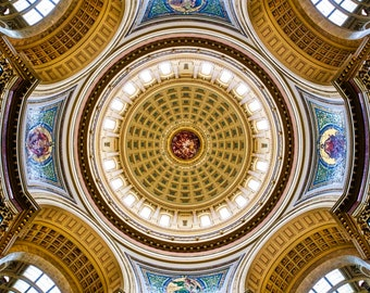 Madison Wisconsin Capitol Rotunda Color Photograph