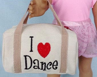 Dance Duffle Bag for American Girl/18 Inch Doll