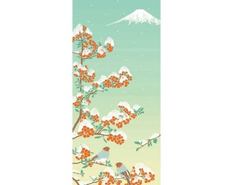 Hamamonyo Nassen Tenugui Towel Snow Covered Mountain with Wataboshi