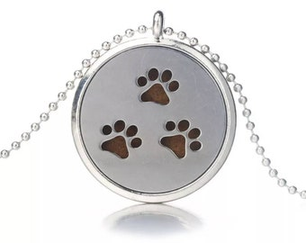 Paw Print Necklace Diffuser
