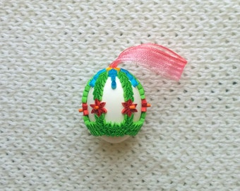 Real Quilled eggshell for Easter/Easter decoration/Quilling/Handmade