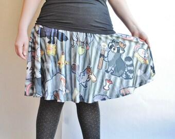 Trash Animals Skater Skirt