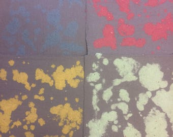 Decorative paper, marbled pulp paper, handmade paper, recycled paper, homemade paper, black, navy