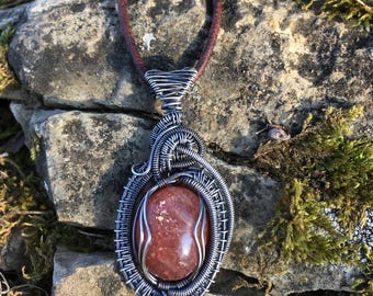 Sunstone Silver Filled Pendant