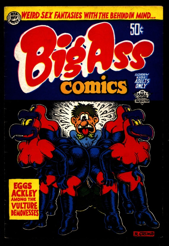 Big Ass Comics 1 5Th Robert Crumb Weird Sex Fantasy Humor-1723