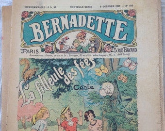 Antique French Fashion Publications Bernadette 1928-1940 Not Reprints Old french magazine