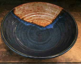 Blue and Gold Fruit/Serving Bowl