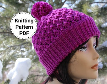 Knitting Pattern | Knit Pattern | Knit Beanie Pattern | Knitted Hat Pattern | Hat Pattern | Let it Snow