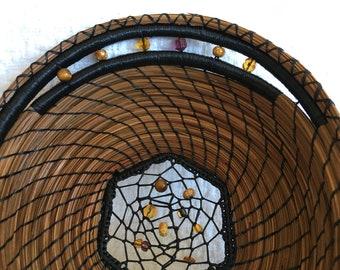 Dreamcatcher Weave pine needle basket 18-4