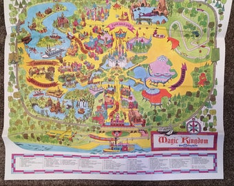Vintage Walt Disney World, Magic Kingdom 1970s park map