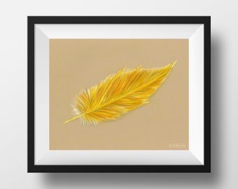 DIPG / Childhood Cancer Awareness Feather