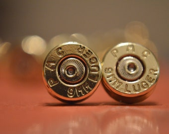 9mm Bullet Earrings