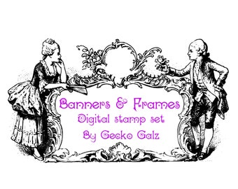 Banners and Frames Digital Stamp Set