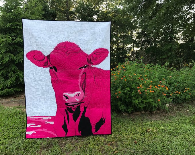 Portrait Art Quilt Commission (Designed based on customer's photo)