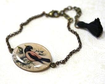 Resin Pink Bird Bracelet - Pink Bird - Bird Bracelet - Bird Jewelry - Pink Bird Jewelry - Bird - Animal Jewelry - Animal Bracelet - Birds
