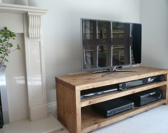 """Plank Beam solid wood tv stand 42"""" ( custom made service)"""