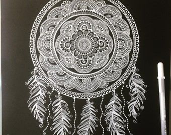 Mandala Dream Catcher home decor, art print