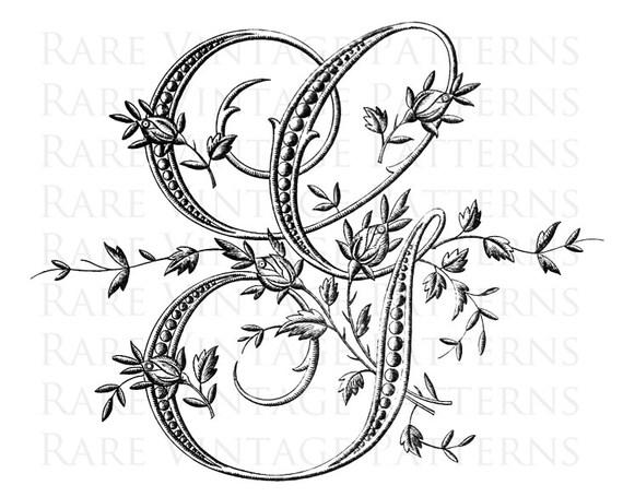 ALFABETO francese STENCIL grande lettera G monogramma