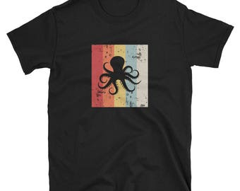Octopus Shirt Octopus Gift Vintage Retro Distressed