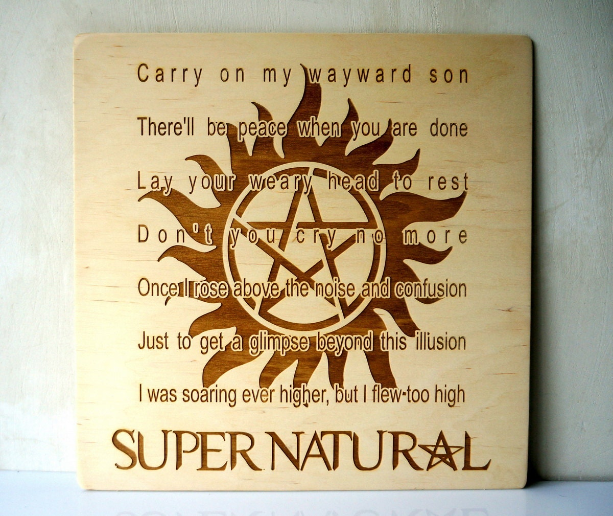 Anti-Possession Symbol Engraved Wall Art OST Supernatural