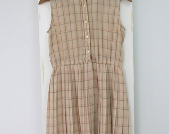 Vintage Japanese Check Day Dress