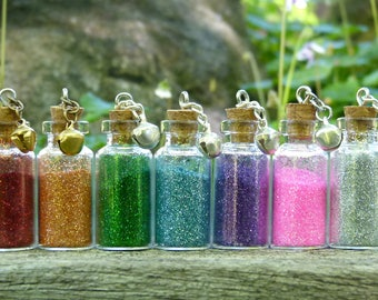Fairy Dust in Glass Vial, Choose Your Colour, Pixie Dust, Magic Glitter Jar,