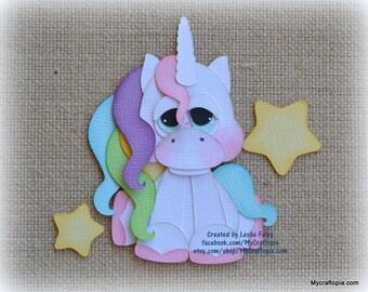 Unicorn Fantasy Animals Premade Scrapbooking Embellishment Paper Piecing