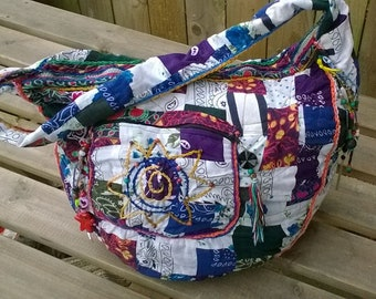 Hand-made hippie style bag.