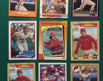Mike Schmidt Card Lot - Best Third Baseman EVER!!!!!!!!!!!!!!!!!!!!