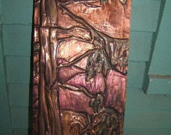 Redwood and Mountain Plaque