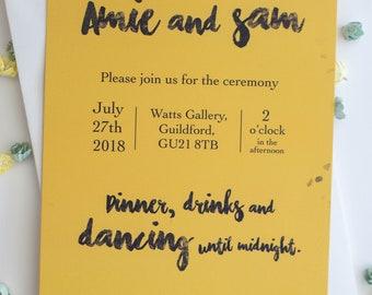 Mustard Yellow Wedding Invitation