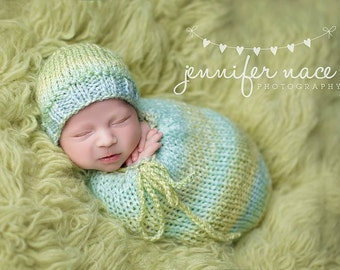 Nicholas Newborn Snuggle Sack with Optional Matching Beanie