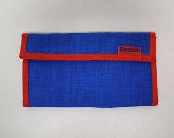 Vintage Wallet - Reebok - Red and Blue - large wallet - clutch - excellent condition