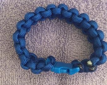 Blue paracord bracelet 6.5 inches