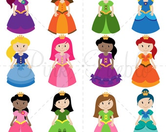 Princess SVGs, Princess Cutting Templates - Commercial and Personal Use