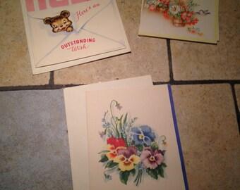 Three Unused Birthday Greeting Cards