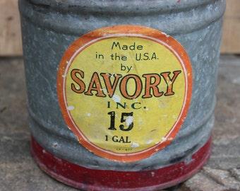 Spectacular Savory 1 Gallon Galvanized Kerosene can