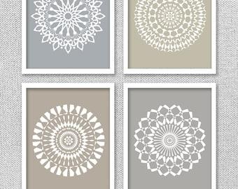 Nice Printable Art, Medallion Art, Medallion Wall Art, Mandala Art, Gray Art,