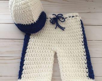 Newborn Baseball Outfit,  Newborn Baseball Hat, Newborn Photography Prop, Baby Baseball outfit, baby baseball pants