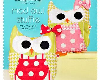 Mod Owl Stuffie PDF Downloadable Pattern by MODKID - Instant Download