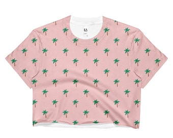 Palm Tree Crop Top, Crop Top, Festival, Festival Clothing, Boho, Hippie, Hippie Clothes, Kawaii Clothing, Pastel Goth, Vaporwave, Gypsy