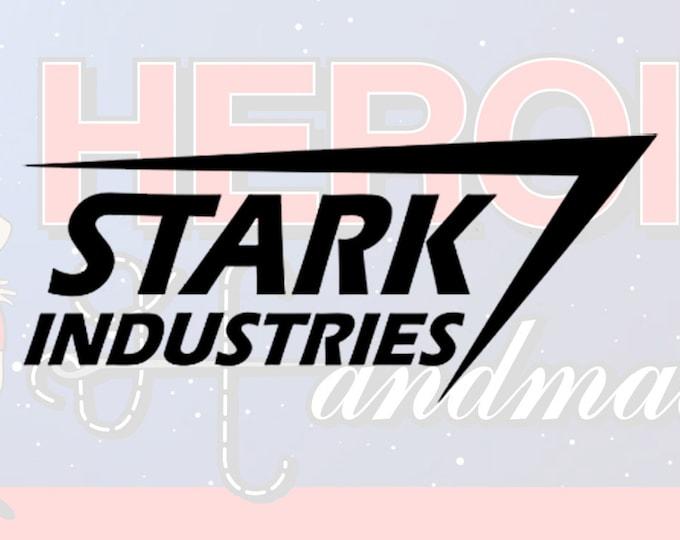 "4""+ Stark Industries Logo Adhesive Vinyl Decal"