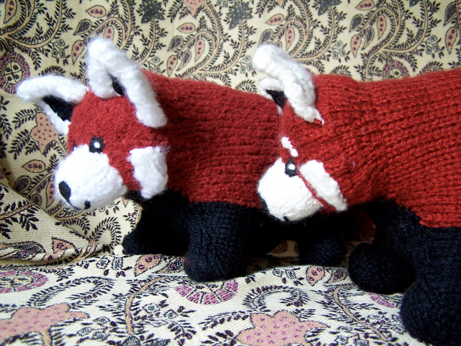 Cutest Anywhere Red Panda Knit Pattern from RedwoodDawn on Etsy Studio
