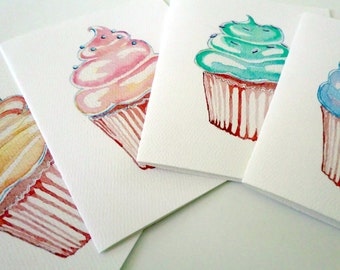 Cupcake Art Notecards (Ed. 2), Set of 8 Cupcake Cards