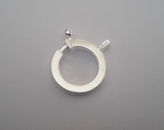 2 Sterling Silver One of its kind Spring Ring Clasp(Rectangular tube)