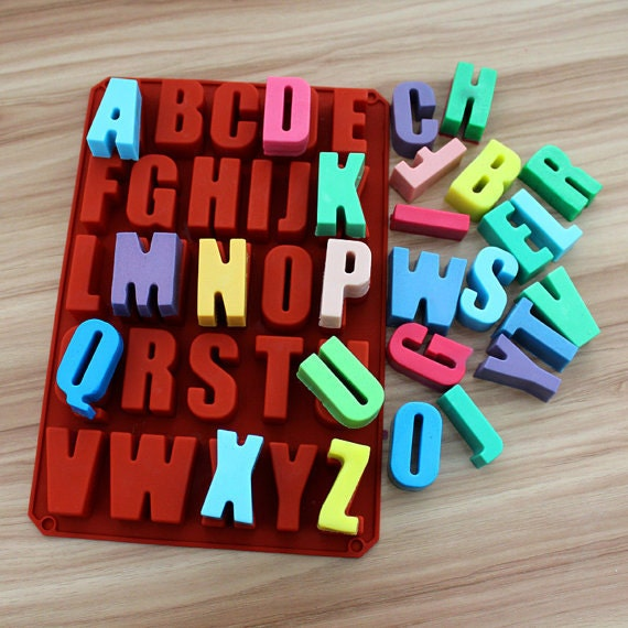 Letter Alphabet Cake Mold Soap Molds Flexible Silicone Mould