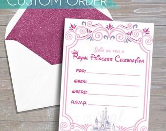 CUSTOM Disney Princess Invitation // DOWNLOAD // Party Decor // Printable, Digital