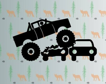 monster truck svg, monstertrucks svg files for cricut, silhouette studio files, instant download clip art, cutting template, vector files