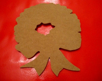 Unfinished Christmas Wreath Mdf Wood Mosaic Base/Craft Shape